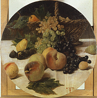 0315692 © Granger - Historical Picture ArchiveFINE ART.   Still life with fruit, Federico Faruffini (1831-1869). Full Credit: DEA PICTURE LIBRARY / Granger, NYC -- All Rights Reserved.