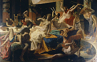 0315696 © Granger - Historical Picture ArchiveFINE ART.   The orgies of Messalina, 1867-1868, by Federico Faruffini (1831-1869). Full Credit: DEA PICTURE LIBRARY / Granger, NYC -- All Rights Reserved.