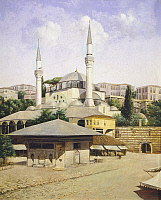 0315898 © Granger - Historical Picture ArchiveFINE ART.   Mihrimah Sultan Mosque in Istanbul, Turkey 19th century. Full Credit: DEA / G. DAGLI ORTI / Granger, NYC -- All Rights Reserved.
