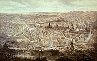 0315967 © Granger - Historical Picture ArchiveFINE ART.   View of Vienna, by G. Veitto, 1860, Austria 19th Century. Full Credit: DEA PICTURE LIBRARY / Granger, NYC -- All Rights Reserved.