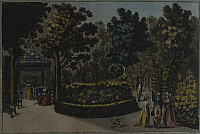 0316478 © Granger - Historical Picture ArchiveFINE ART.   Lobrowitzischen Garden in Vienna, Austria 18th Century. Full Credit: DEA / A. DAGLI ORTI / Granger, NYC -- All Rights Reserved.