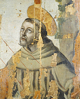 0317704 © Granger - Historical Picture ArchiveFINE ART.   St Francis, 16th century, by Fra' Giovanni da Funds. Detail. Convent of San Francesco, Fondi, Latina. Full Credit: DEA / S. VANNINI / Granger, NYC -- All rights reserve