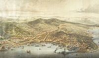 0317724 © Granger - Historical Picture ArchiveFINE ART.   View of Trieste, Italy 19th century. Full Credit: DEA / G. DAGLI ORTI / Granger, NYC -- All rights reserved.