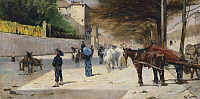 0318351 © Granger - Historical Picture ArchiveFINE ART.   Prince Amedeo Avenue, 1880-1881, by Giovanni Fattori (1825-1908), oil on canvas. Full Credit: DEA / BARDAZZI / Granger, NYC -- All rights reserved.