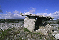 0320551 © Granger - Historical Picture ArchivePREHISTORIC ART.   Ireland - County Clare - Burren. Poulnabrone Dolmen (3800 b.C.-3200 b.C.). Full Credit: DEA / W. BUSS / Granger, NYC -- All rights reserved.