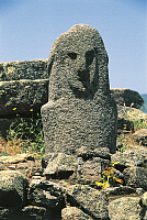 0320595 © Granger - Historical Picture ArchivePREHISTORIC ART.   France - Corsica - Filitosa prehistoric archaeological site. Anthropomorphic menhir statue. Full Credit: DEA / S. VANNINI / Granger, NYC -- All rights reserved.
