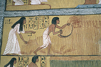 0321650 © Granger - Historical Picture ArchiveANCIENT EGYPT.   Egypt - Ancient Thebes (UNESCO World Heritage List, 1979). New Kingdom village of state labourers at Dayr al-Madinah (Deir el-Medina). Tomb of Sennedjem. Mural paintings. Full Credit: DEA / G. SIOEN / Granger, NYC -- All ri.