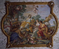 0327088 © Granger - Historical Picture ArchiveART & ARCHITECTURE.   Allegory of Summer, fresco by Carlo Maratta (1625-1713) and Ciro Ferri (1634-1689), Villa Falconieri La Rufina, Frascati. Italy, 17th century. Full credit: De Agostini / A. De Gregorio / Granger, NYC -- All rights rese