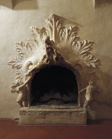 0327211 © Granger - Historical Picture ArchiveART & ARCHITECTURE.   Angels' Mask or Angels' Fireplace, Villa della Torre, Fumane, Veneto. Detail. Italy, 16th century. Full credit: De Agostini / A. Dagli Orti / Granger, NYC -- All Rights Reserved.