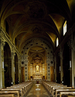 0327806 © Granger - Historical Picture ArchiveART & ARCHITECTURE.   Cental aisle of the Basilica of Our Lady of the Rosary, Fontanellato, near Parma, Emilia Romagna. Italy. Full credit: De Agostini / A. De Gregorio / Granger, NYC -- All Rights Reserved.