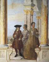 0328469 © Granger - Historical Picture ArchiveART & ARCHITECTURE.   Depiction of Winter, detail from a fresco at Villa Falconieri La Rufina, Frascati. Italy, 16th-17th century. Full credit: De Agostini / A. De Gregorio / Granger, NYC -- All Rights Reserved.