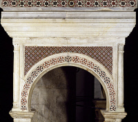0328726 © Granger - Historical Picture ArchiveART & ARCHITECTURE.   detail from the pulpit in St Peter's Church, Fondi, Lazio. Italy, 17th century. Full credit: De Agostini / S. Vannini / Granger, NYC -- All rights reserved.