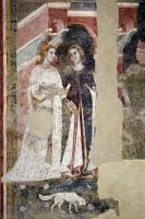 0328757 © Granger - Historical Picture ArchiveART & ARCHITECTURE.   Detail from The ups and downs of a young man's initiations into the mysteries of love, 1305-1311, by Memmo di Filippuccio (ca 1250-ca 1325), fresco, Chambers of the podesta, Peoples' Palace, San Gimignano (UNESCO World Heritage List, 1990), Tuscany. Italy, 14th century. Full credit: De Agostini / G. Nimatallah / Granger, NYC -- All righ