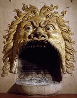0329039 © Granger - Historical Picture ArchiveART & ARCHITECTURE.   Devil's Mask or Devil's Fireplace, Villa della Torre, Fumane, Veneto. Italy, 16th century. Full credit: De Agostini / A. Dagli Orti / Granger, NYC -- All righ