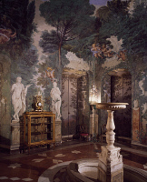 0329791 © Granger - Historical Picture ArchiveART & ARCHITECTURE.   Frescoes by Carlo Maratta (1625-1713) and Ciro Ferri (1634-1689) in the Spring Hall at Villa Falconieri La Rufina, Frascati. Italy, 17th century. Full credit: De Agostini / A. De Gregorio / Granger, NYC -- All rights r