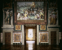 0330657 © Granger - Historical Picture ArchiveART & ARCHITECTURE.   Interior of a frescoed hall, Palazzo Farnese, Rome. Italy, 16th century. Full credit: De Agostini / P. Carrieri / Granger, NYC -- All rights reserved.