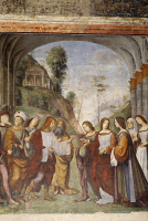 0331333 © Granger - Historical Picture ArchiveART & ARCHITECTURE.   Marriage of Cecilia and Valerian, 1506, by Francesco Francia (ca 1450 -1517), fresco, Oratory of Santa Cecilia (St Cecilia), Bologna, Emilia-Romagna. Italy, 16th century. Full credit: De Agostini Picture Library / Granger, NYC -- All Rights Reserved.