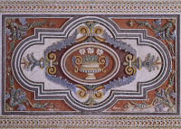 0331504 © Granger - Historical Picture ArchiveART & ARCHITECTURE.   Mosaic in the Room of Mount Parnassus at Villa Aldobrandini, Frascati. Italy, 16th-17th century. Full credit: De Agostini / G. Dagli Orti / Granger, NYC -- All Rights Reserved.