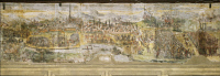 0332470 © Granger - Historical Picture ArchiveART & ARCHITECTURE.   Siege of Vienna in 1529, ca 1548, by Marcello Fogolino (born between 1483-1488, died 1548), fresco, Palazzo Lantieri, Gorizia, Friuli-Venezia Giulia. Italy, 16th century. Full credit: De Agostini / A. De Gregorio / Granger, NYC -- All Rights Reserved.