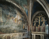 0332749 © Granger - Historical Picture ArchiveART & ARCHITECTURE.   St Peter's ship, fresco by Nicolo Alunno (ca1430-1502), Chapel of the Ship, Church of St Mary in Campis, Foligno, Umbria. Italy, 15th century. Full credit: De Agostini / A. Dagli Orti / Granger, NYC -- All rights reser