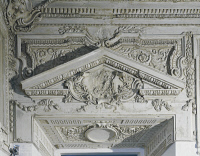 0332915 © Granger - Historical Picture ArchiveART & ARCHITECTURE.   Stuccoes, detail from the Alcove, 1686-1688, by Paolo Frisoni (1645 -), Palazzo Farnese, Piacenza, Emilia-Romagna. Italy, 17th century. Full credit: De Agostini / A. De Gregorio / Granger, NYC -- All rights reserved.