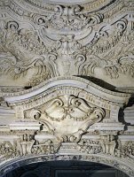 0332916 © Granger - Historical Picture ArchiveART & ARCHITECTURE.   Stuccoes, detail from the Alcove, 1686-1688, by Paolo Frisoni (born 1645), Palazzo Farnese, Piacenza, Emilia-Romagna. Italy,17th century. Full credit: De Agostini / A. De Gregorio / Granger, NYC -- All rights reserved.