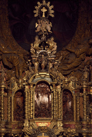 0332943 © Granger - Historical Picture ArchiveART & ARCHITECTURE.   Tabernacle by Andrea Fantoni (1659-1734) preserved on the Scared Mountain, Cerveno. Italy, 18th century. Full credit: De Agostini / A. De Gregorio / Granger, NYC -- All Rights Reserved.