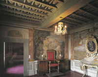 0333109 © Granger - Historical Picture ArchiveART & ARCHITECTURE.   The Cardinal's Room at Villa Falconieri La Rufina, Frascati. Italy, 16th-17th century. Full credit: De Agostini / A. De Gregorio / Granger, NYC -- All rights