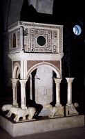 0333533 © Granger - Historical Picture ArchiveART & ARCHITECTURE.   The pulpit of St Peter's Church, Fondi, Lazio. Italy, 15th century. Full credit: De Agostini / S. Vannini / Granger, NYC -- All rights reserved.