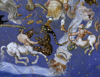 0333683 © Granger - Historical Picture ArchiveART & ARCHITECTURE.   The Zodiac and the Costellations, 1574, detail from the fresco on the ceiling of the Hall of Maps, Palazzo Farnese at Caprarola. Italy, 16th century. Full credit: De Agostini / G. Dagli Orti / Granger, NYC -- All right
