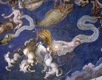 0333686 © Granger - Historical Picture ArchiveART & ARCHITECTURE.   The Zodiac and the Costellations, 1574, detail from the fresco on the ceiling of the Hall of Maps, Palazzo Farnese at Caprarola. Italy, 16th century. Full credit: De Agostini / G. Dagli Orti / Granger, NYC -- All right