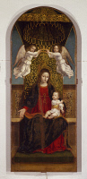 0333819 © Granger - Historical Picture ArchiveART & ARCHITECTURE.   Triptych with the Virgin and Saints, 1505-1522, by Ambrogio da Fossano known as Bergognone (1453-1523), Basilica of Sant'Eustorgio, Milan. Italy, 16th century. Full credit: De Agostini / A. De Gregorio / Granger, NYC -- All Rights Reserved.