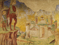 0333827 © Granger - Historical Picture ArchiveART & ARCHITECTURE.   Triumph of Ceres, scene from Month of August, ca 1470, attributed to Cosimo Tura, (ca 1430-1495) and Master of Ercole, fresco, north wall, Hall of the Months, Palazzo Schifanoia (Palace of Joy), Ferrara, Emilia-Romagna. Detail. Italy, 15th century. Full credit: De Agostini / A. De Gregorio / Granger, NYC -- All rights reserved.