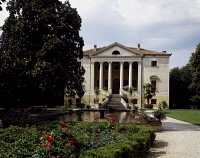 0334012 © Granger - Historical Picture ArchiveART & ARCHITECTURE.   Villa Negri-Ceroni-Feriani facade, called Ca' Latina, Bertesina, near Vicenza, Veneto. Italy, 18th century. Full credit: De Agostini / A. Dagli Orti / Granger, NYC -- All Rights Reserved.