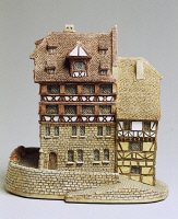 0336436 © Granger - Historical Picture ArchiveDECORATIVE ARTS.   Nuernberger Buergerhaus, miniature, ceramic, Lilliput Lane manufacture, Carlisle, Cumbria. England, 20th century. Full credit: De Agostini / G. Cigolini / Granger, NYC -- All Rights Reserved.