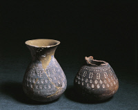 0338295 © Granger - Historical Picture ArchiveHISTORY.   6th century pottery with stamped decorations, from Nocera Umbra, Italy. Longobard civilization. Full credit: De Agostini / A. De Gregorio / Granger, NYC -- All rights re