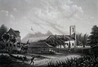 0338932 © Granger - Historical Picture ArchiveHISTORY.   Church of Grapefruit on Ile de France, now Mauritius, engraving from Journey around the world by the India and China seas, 1830-1832, by Theodore Laplace (1793-1875). 19th century. Full credit: De Agostini / M. Seemuller / Granger, NYC -- All Rights Reserved.