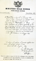 0339062 © Granger - Historical Picture ArchiveHISTORY.   Decree of conferment to Giuseppe Garibaldi (1807-1882) of the Gold Medal for Military Valour for fighting against the Austrians, June 8, 1859. Italy, 19th century. Full credit: De Agostini Picture Library / Granger, NYC -- All ri.