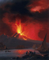 0339217 © Granger - Historical Picture ArchiveHISTORY.   Eruption of Vesuvius in 1822, watercolour. Italy, 19th century. Full credit: De Agostini Picture Library / Granger, NYC -- All Rights Reserved.