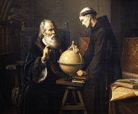 0339394 © Granger - Historical Picture ArchiveHISTORY.   Galileo Galilei (1564-1642) explaining his theories at Padua University. Painting by Felix Parra (1845-1919), 1873. Full credit: De Agostini / G. Dagli Orti / Granger, NYC -- All Rights Reserved.