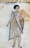 0339673 © Granger - Historical Picture ArchiveHISTORY.   Indian from the Guatemalan coast, illustration from the facsimile of the Codex Tudela, 1533. Central America, 16th century. Full credit: De Agostini / G. Dagli Orti / Granger, NYC -- All Rights Reserved.