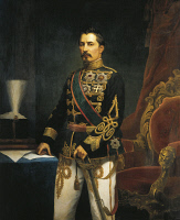 0340445 © Granger - Historical Picture ArchiveHISTORY.   Portrait of Alexander John Cuza (Galatians 1820-Heidelberg 1873), Prince of Moldavia and Wallachia. Painting by Szathmary. Full credit: De Agostini / G. Dagli Orti / Granger, NYC -- All Rights Reserved.