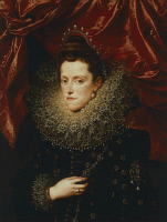 0340913 © Granger - Historical Picture ArchiveHISTORY.   Portrait of Eleonora de Medici (Florence, 1567-Cavriana, 1611), duchess of Mantua, painting by Frans Pourbus the Younger (1569-1622). Full credit: De Agostini / G. Nimatallah / Granger, NYC -- All rights reserved.