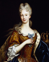 0340915 © Granger - Historical Picture ArchiveHISTORY.   Portrait of Elisabeth Farnese (Parma, 1692-Aranjuez, 1766), Queen Consort of Spain, oil on canvas 87x70 cm. Painting by Giovanni Maria delle Piane (1660-1745). Full credit: De Agostini / L. Pedicini / Granger, NYC -- All rights r