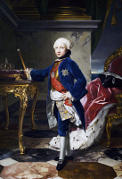 0341047 © Granger - Historical Picture ArchiveHISTORY.   Portrait of Ferdinand IV, King of Naples and Sicily (Naples 1751-1825), King of the Two Sicilies at 9 years of age. Full credit: De Agostini / G. Dagli Orti / Granger, NYC -- All Rights Reserved.