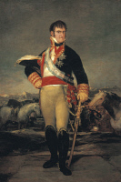 0341051 © Granger - Historical Picture ArchiveHISTORY.   Portrait of Ferdinand VII (San Lorenzo de El Escorial, 1784-Madrid, 1833), King of Spain. Painting by Francisco Jose de Goya y Lucientes (1746-1828). Full credit: De Agostini / G. Dagli Orti / Granger, NYC -- All rights reserved.