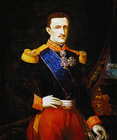 0341111 © Granger - Historical Picture ArchiveHISTORY.   Portrait of Francis II of the Two Sicilies (Naples, 1836-Arco, 1894), King of the Kingdom of the Two Sicilies. Painting by an anonymous artist in the first half of the 19th century, oil on canvas, 115x89 cm. Full credit: De Agostini / L. Pedicini / Granger, NYC -- All rights reserved.