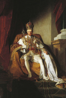 0341114 © Granger - Historical Picture ArchiveHISTORY.   Portrait of Francis II, Holy Roman Emperor (Florence, 1768-Vienna, 1835), Emperor of the Holy Roman Empire. Painting by Friedrich von Amerling (180-1887), oil on canvas, 260x164 cm. Full credit: De Agostini / G. Nimatallah / Granger, NYC -- All Rights Reserved.