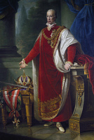 0341115 © Granger - Historical Picture ArchiveHISTORY.   Portrait of Francis II, Holy Roman Emperor (Florence, 1768-Vienna, 1835), Emperor of the Holy Roman Empire. Tominz painting by Giuseppe (1790-1866). Full credit: De Agostini / A. Dagli Orti / Granger, NYC -- All rights reserved.