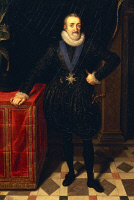 0341380 © Granger - Historical Picture ArchiveHISTORY.   Portrait of Henry IV (Pau 1553-Paris, 1610), King of France. Painting by Frans Pourbus known as The Younger (1569-1622), oil on canvas, 39x25 cm. Full credit: De Agostini / G. Dagli Orti / Granger, NYC -- All rights reserved.